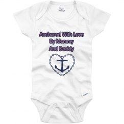 Infant Anchored Love Onesie