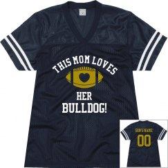 Loves her Bulldog