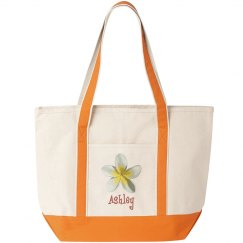 Custom Name Floral Tote