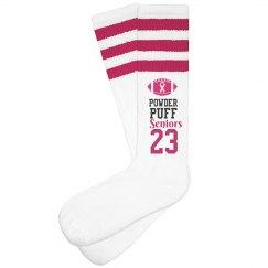 Powderpuff FootBall Breast Cancer Charity Game Socks