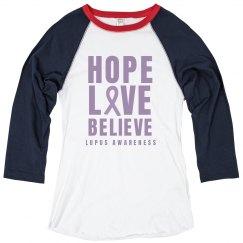Hope Love Believe Lupus Awareness