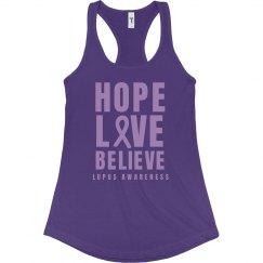 Lupus Awareness Hope Love Believe