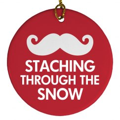 Staching Through The Snow