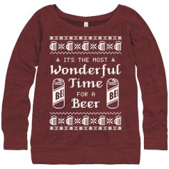Beer Girl Ugly Sweater