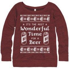 Beer Girl Ugly Sweater