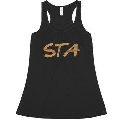 STA Metallic Crop Top