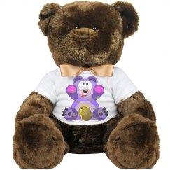 Purple Bear w/ Honey Bees