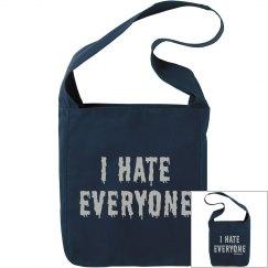 I Hate Everyone Black Sling Bag