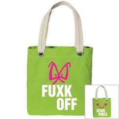 Fuxk Off Good Vibes Mood Tote