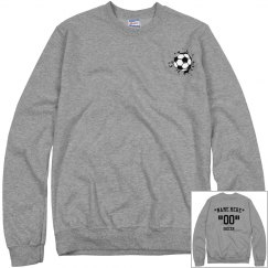 Customize soccer sweatshirt