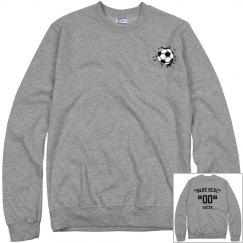 Customize soccer sweatshirt