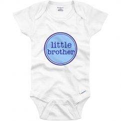 Little Brother Onesie Blue Navy