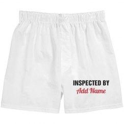 Custom valentines boxer shorts