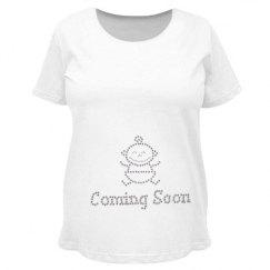 maternity T shirt with rhineston