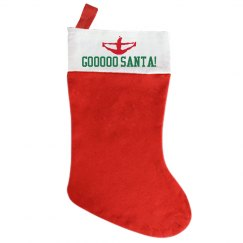Go Santa Cheer Stocking
