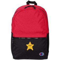 Golden Glitter Star Back Pack