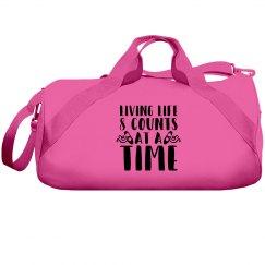 Living Life Pink Duffle Bag