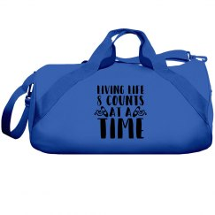 Living Life Pink Duffle Bag