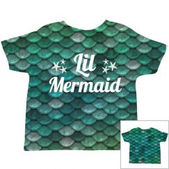 Cute Lil' Mermaid All Over Print