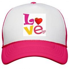 Colorful Love Peak Cap