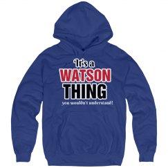 It's a Watson thing
