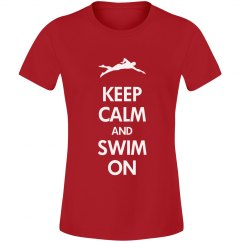 Keep calm swim on