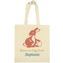 Bunny on Egg Hunt Easter Bag