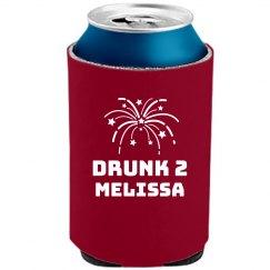 Drunk 2 Firework Koozie