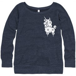 Chest Unicorn Sweatshirt