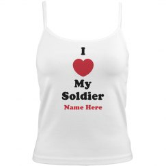 I Love My Soldier Pink