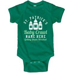 St. Patrick's Baby Crawl Onesie