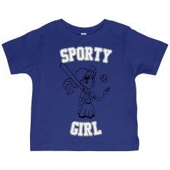 Sporty Girls Baseball T-shirt