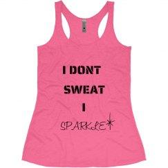 I sparkle workout tank
