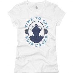 Ship Faced Ocean Cruise Girls