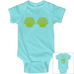Daddy's Little Mermaid Infant Onsie