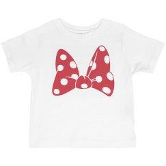 Red Polka Dot Bow Tee Toddler