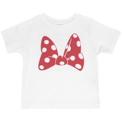 Red Polka Dot Bow Tee Toddler