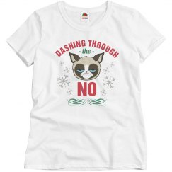 Grumpy Cat Dashing Through The No