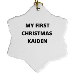 My First Christmas Kaiden
