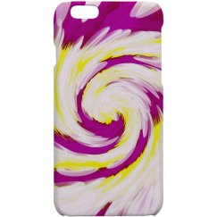 Bright Pink Yellow Swirl Abstrac