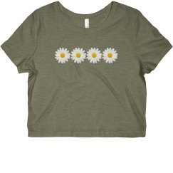 Sunflower/Daisy Crop Top