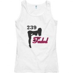 239 faded womans tank top pink outline