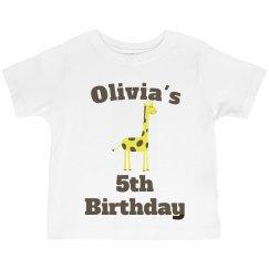 Olivia's 5th birthday