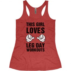 This Girl Loves Leg Day Tank
