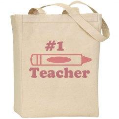 Number 1 Teacher Bag
