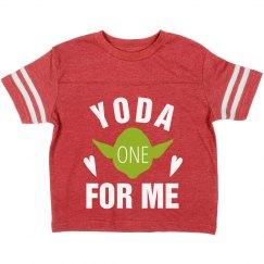 Yoda One Valentine For Me