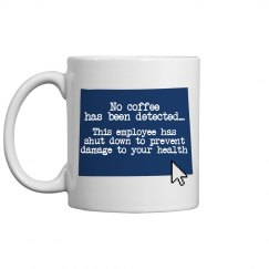 Blue Screen Coffee Mug