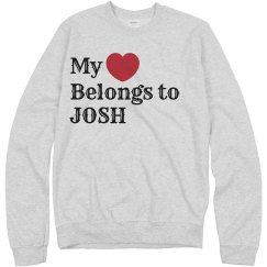 Heart belongs to Josh