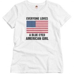 Blue eyed american girl