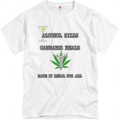 Alcohol Kills Cannabis Heals